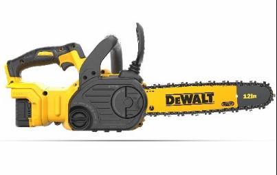 DeWalt chainsaw has brushless electric motor