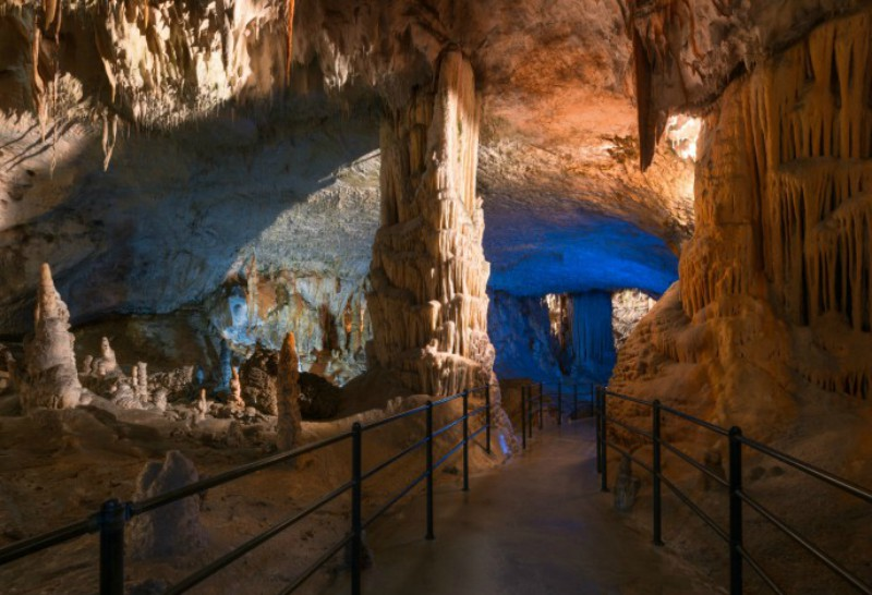 Postojna cave is one of the most beautiful caves in the world