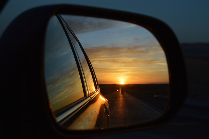 Rear view mirror glass